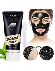 Schwarze Maske, Y.F.M Bambuskohle Maske Reinigungsmaske Mitesser Maske Akne Maske Peel off Maske