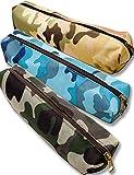 OUTDOOR SAXX® - Schreib-Tasche Federmappe | Tasche für Schule Uni Ausrüstung Schreibzeug Stifte | (Camouflage Marine)