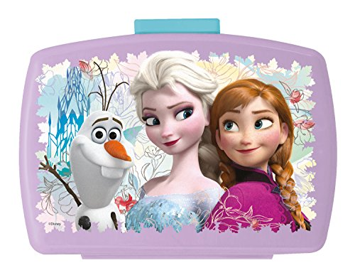 p:os 24936 Disney Frozen Brotdose Premium mit Einsatz, 16 x 12 x 6,5 cm