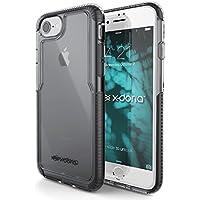 iPhone 7 Caso, X-Doria (Pro Impact) Custodia per iPhone 7, Clear Visto, Assorbimento Double Impact, gommoso TPU e Poly-One Materiale, Premium protettivo iPhone 7 Caso (Nero) - Caso Poly Trasparente