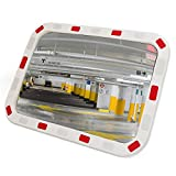 PrimeMatik - Konvexen Spiegel Sicherheit Signalisierung rechteckigen 60x40 cm