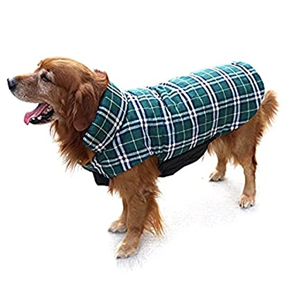 Akemiao Reversible Cozy Dog Jacket Small Medium Breed Windproof Warm Coat for Autumn Winter (Red-XS) 1