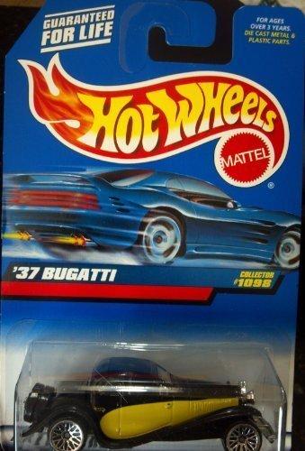 Hot Wheels '37 Bugatti #1098 Black and Yellow by Mattel