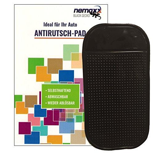 1x Nemaxx Antirutsch-Pad Black Gecko - Starke Haftung für Ihr Handy dank KFZ Halterung