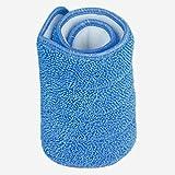 SYN Panni di Ricambio per mocio in Microfibra, Panno Antipolvere, Lavabile, per mocio Spray e mocio, 42 x 14 cm, Blue, Taglia Libera