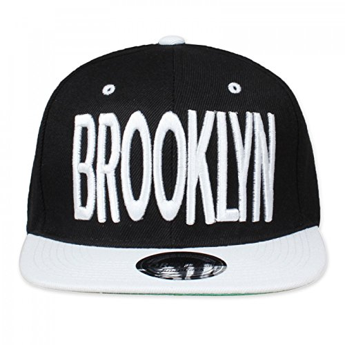 Original Snapback City Caps, Größe:One Size;Farbe:Brooklyn-City-Black-White