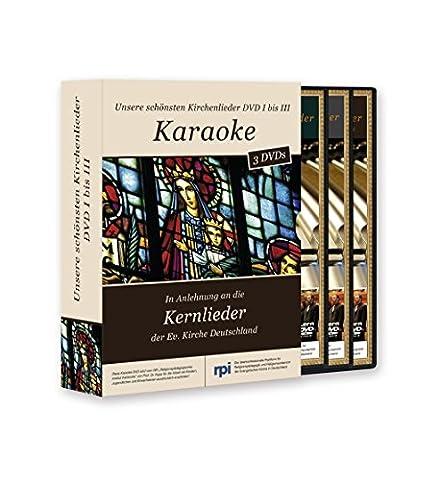 Kickstart Karaoke DVD-Package Unsere schönsten Kirchenlieder (Vol. 1 - 3)