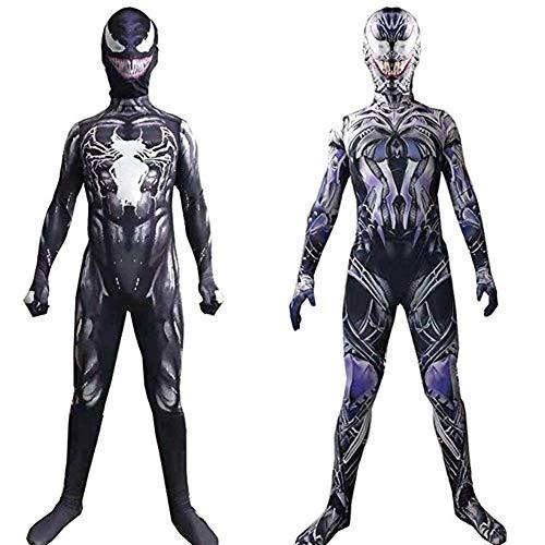 CHERSH Spider-Man Erwachsene Kinder Cosplay Overall Kostüme Spider-Man Gift Kleidung symbiotische Körper Strumpfhosen (Color : B, Size : Adult - Kostüm Di Halloween Per Bambini