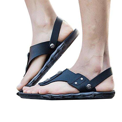 Sandali confortevoli impermeabili di estate di modo dell'uomo Black