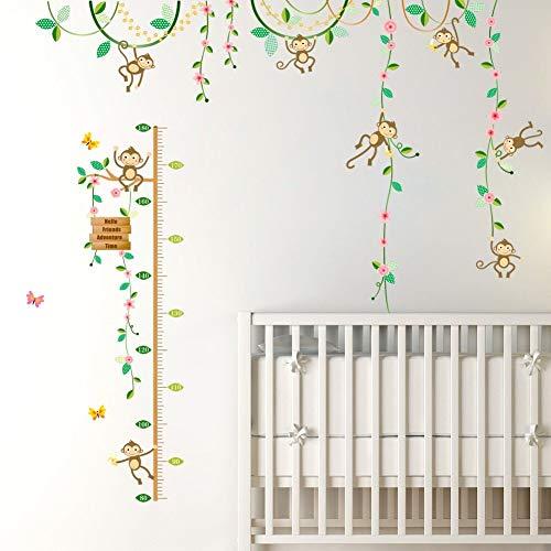 Garten Höhe Maßnahme Wandaufkleber Für Kinderzimmer Zaun Blume Messlatte 3D Kinderzimmer Dekor Poster ()