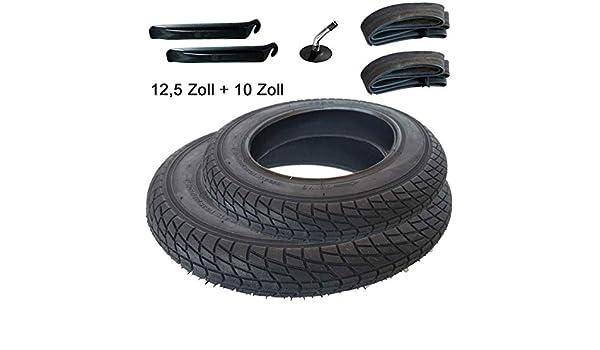 2X Reifen+Schlauch mit Winkelventil 10 x 1.75 x 2 Plus Montagehebel Komfort