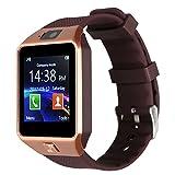 Kivors Smartwatch Armbanduhr, Modell DZ09, unterstützt TF-Karte für iOS, Android, Samsung, Sony, LG, HTC, iPhone 7/6S/6/5S/5,Fitness, Bluetooth, Touchscreen, Kamera mit Einschub für SIM-Karte 2.0.