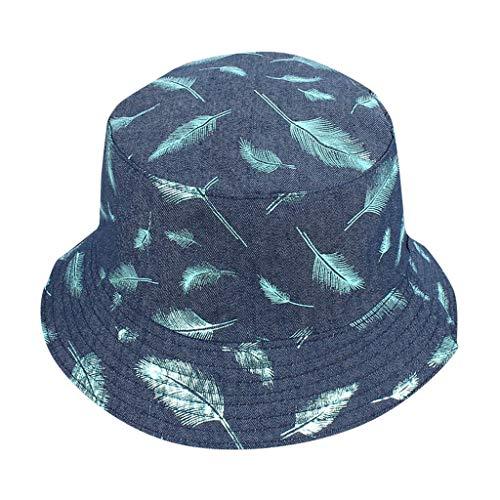 XIAOJING Unisex Erwachsene Doppelseitige Abnutzung Feder Fischer Hut Sonnencreme Freien Kappe Angeln Hut für Wandern Camping Reise Angeln