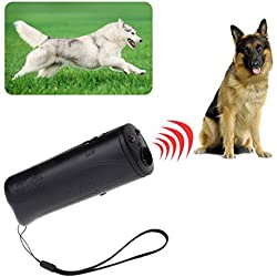 Qiman 3 in 1 Ultraschall Anti Bark Stop Bellen Hunde Training Repeller Control Trainer