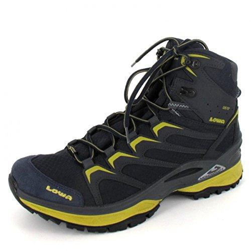 Lowa Innox GTX Mid, Stivali da Escursionismo Alti Uomo Grigio (Stahlblau/senf 9785)