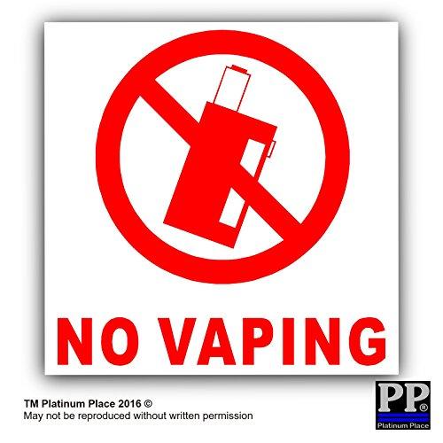 6x keine vaping-with Text, externe selbstklebend ACHTUNG stickers-bottle logo-health und Sicherheit Zeichen, rot, weiß, VAPE, Saft, Coil, Maschine