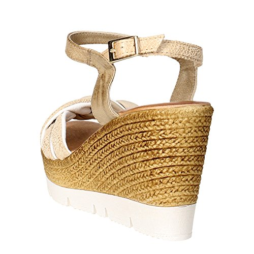 Keys 5474 Sandalo Donna Bianco/Beige