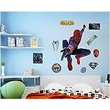 Revesun New Version Art DIY Super Spiderman Wall Sticker Decals Baby Kids Bedroom Decor 80*90cm
