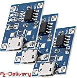 AZDelivery 3 x TP4056 Mini USB 5V 1A Laderegler Lithium Li - Ion Batterie Charger Modul