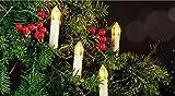 LED Weihnachtsbaumbeleuchtung 50 Kerzen Warmweiß 12,5m Baumbeleuchtung