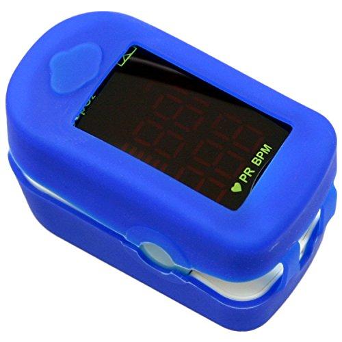 Oximeter Messgerät | Ermitteln der Sauerstoffsättigung im Blut und der Pulsfrequenz | Fingerpulsoximeter | Pulsmessgerät | Pulsmesser