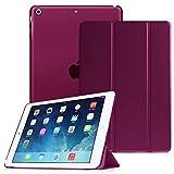 Fintie iPad Air Hülle - Ultra Slim Superleicht Schutzhülle mit transparenter Rückseite Abdeckung Smart Case mit Auto Schlaf / Wach und Standfunktion für Apple iPad Air 2013 Modell, Lila