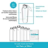 LA VIDA AQUA Glasflaschen 500ml 6 Stück – Trinkflasche Aus Glas, für Kinder ab 5 Jahren - 3