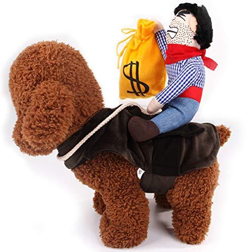 Haustier Hund Katze Halloween Kostüme,Haustier-Kostüm-Hundekostüm-Kleidung Haustier-Ausrüstungs-Anzugs-Cowboy-Reiter-Art, Haustier-Hunde Cosplay TWBB -