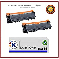 Brother DCPL2540 - 2 Toner Compatible TN-2320, TN2320, Alta Capacidad, No Original, 2 x 2.600 copias