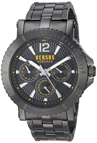 Versus by Versace Men's 'STEENBERG' Quartz Stainless Steel Watch, Color:Grey (Model: VSP520518)