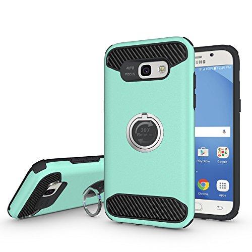 Galaxy A5(2017) Hülle,EVERGREENBUYING [Ring Series] Abnehmbare Hybrid Schein SM-A520F Tasche Ultra-dünne Schutzhülle Case Cover mit Ständer Etui für Samsung GALAXY A5 (2017 Release) Grün Grün