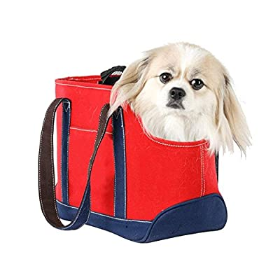 Dog Carrier Soft Sided Handbag Lightweight Pet Cat Oxford Tote Bag 40x20x24cm from Petcomer