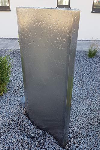 Köhko Wasserwand Libro mit LED-Beleuchtung Höhe ca. 71 cm Wasserspiel mit PE-Becken 23014S