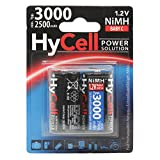 HyCell wiederaufladbar Akku Batterie Baby C Typ 3000mAh NiMH ohne