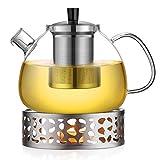 Ecooe 1.5L Teekanne mit Stövchen