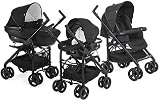 Chicco Trio Sprint Travel Sistem Bebek Arabası, Siyah