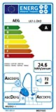 AEG LX7-1-ÖKO Staubsauger ohne Beutel EEK A (700 Watt, inkl. Hartbodendüse, 9 m Aktionsradius, Softräder, 1,4 Liter Staubbehälter, waschbarer Hygiene Filter E12) Schwarz/Grün -