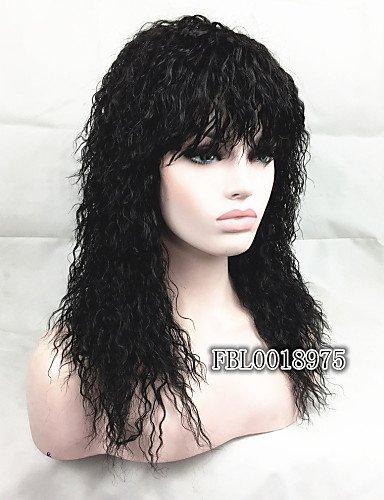 Perruque & xzl Perruques Fashion le style afro-américaine naturel à long noirs bouclés perruque de cheveux bouffants
