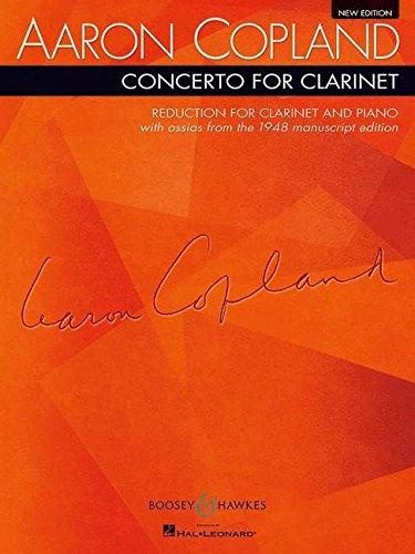 Concerto for Clarinet: Klarinette und Streichorchester, Harfe und Klavier. Klavierauszug mit Solostimme.