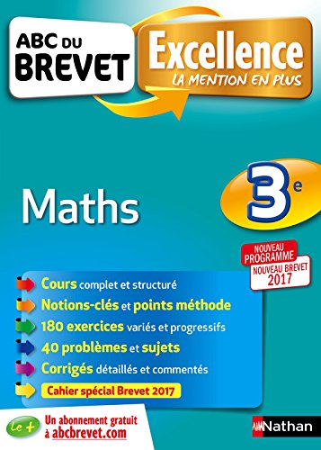 ABC du BREVET Excellence Maths 3e