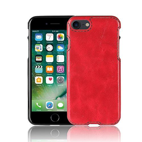 IPhone 8 Hülle, Valenth Crazy Horse Pattern Slim Fit Leichtes Gewicht Ultra Thin Soft TPU Hülle für iPhone 8 Rot