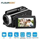 """Video Camcorders, FLOUREON 4K Digital Video Camera 48MP 16X Digital Zoom 3.0"""" Touch Screen LCD 270°Rotation with AP Mode/ IR Night Shot"""