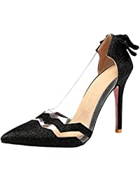 AicciAizzi Mujer Elegante Puntiagudo Verano Zapatos Fiesta con Tacones