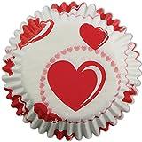 PME - Pirottini di Carta per Cupcake e Muffin, Fantasia Cuore, 60 Pezzi
