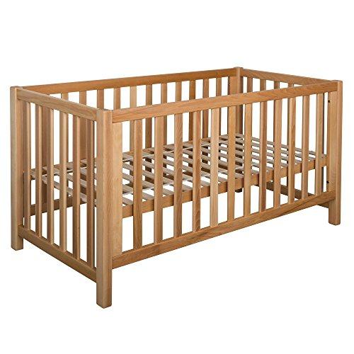 Betten-ABC Bubema Nils Babybett, umbaubar/Sofa, Buche Massiv Zwei Farben,ökologisch,Drei Größen- Qualität - Grösse 70x140 cm - Härtegrad Natur geölt