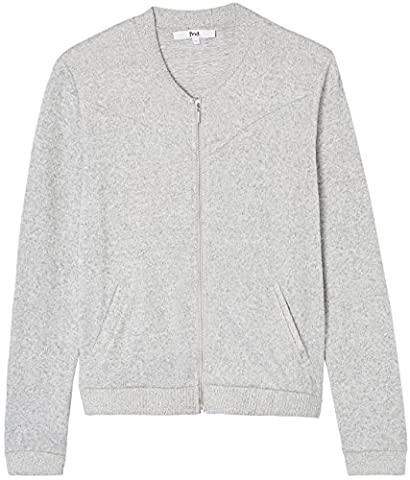 FIND Supersoft Bomber Sweat-Shirt Femme, Gris (Grey), 42 (Taille Fabricant: Large)