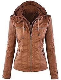 Suchergebnis auf Amazon.de für  Lederimitat Jacke Damen  Bekleidung 1092c3cf4b