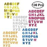 Toyvian 130pcs Pasters 26 lettere autoadesive scintillanti non tessuto EVA artigianato adesivi per bambini bambini (colori assortiti)