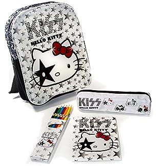 Hello Kitty – Mochila casual  blanco weiß schwarz rot grau