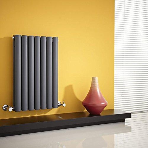 Hudson Reed Revive Radiatore Termoarredo di Design Orizzontale Moderno - Termosifone con Finitura in Antracite - Design a Colonna - 635 x 415mm - 652W - Riscaldamento